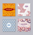 set of 4 creative cover templates vector image vector image