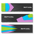 set of horizontal futuristic banners vector image vector image