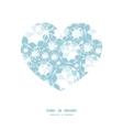 shiny diamonds heart silhouette pattern frame vector image vector image