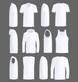 shirts and sportswear apparel mockups vector image
