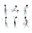 six modern guys vector image vector image