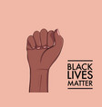 stop racism black lives matter african american vector image