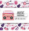 tape recorder equipment to music festival vector image vector image