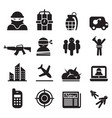terrorism assassin killer icons set vector image vector image