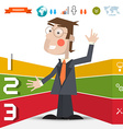 Three Steps Infographic Layout with Business Man vector image vector image