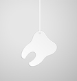 Tooth on a string vector image vector image