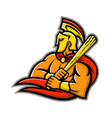 trojan warrior baseball player mascot vector image