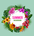 tropical graphics exotic spring or summer flowers vector image vector image