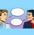 two men dialogue vector image vector image