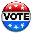 us vote badge vector image vector image