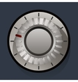 Volume settings sound control knob vector image