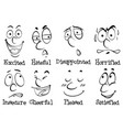 words for different emotions vector image vector image