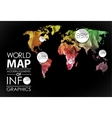 World map card vector image vector image