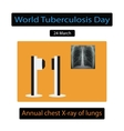 X-rays of light Diagnosis of tuberculosis vector image vector image