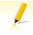yellow felt tip pen vector image