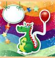 dragon and balloon custom background vector image