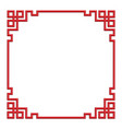 3d chinese border frame vector image