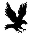 eagle silhouette 001 vector image