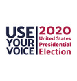2020 united states presidential election vector image vector image