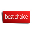 best choice red paper sign isolated on white vector image vector image