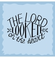 Bible background The Lord looketh on the heart vector image vector image