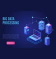 big data processing and analysing landing page vector image vector image