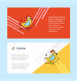 bird abstract corporate business banner template vector image vector image