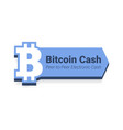 bitcoin cash flat icon with title isolated on vector image vector image