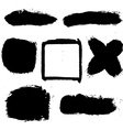 Black Blobs Set vector image