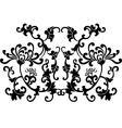 black floral curves silhouette ornament vector image vector image