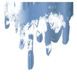 Blue paint drips design element vector image