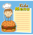 boy with hamburger vector image