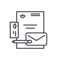 branding identity linear icon sign symbol vector image