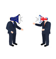 Brexit concept people vector image