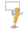 bring board baseball bat character cartoon vector image vector image