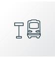 bus stop icon line symbol premium quality vector image