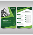 business flyer template with green geometric vector image vector image