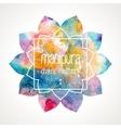 Chakra Manipura frame vector image