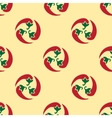 Classic red chili peppers seamless pattern vector image
