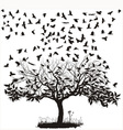 Crows in a tree vector image