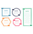 five line style quotation boxes template design vector image