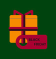 flat icon of gift box black friday vector image vector image