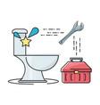 flat set icon bathroom and tools plumbing