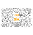 food and drink big set 3 vector image