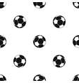 football ball pattern seamless black vector image vector image