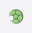 football logo green soccer icon vector image