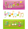 Fruit Music vector image vector image