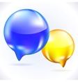 Glass speech bubbles vector image vector image