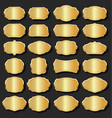 golden blank retro vintage badges and labels vector image