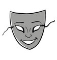 gray mask on white background vector image